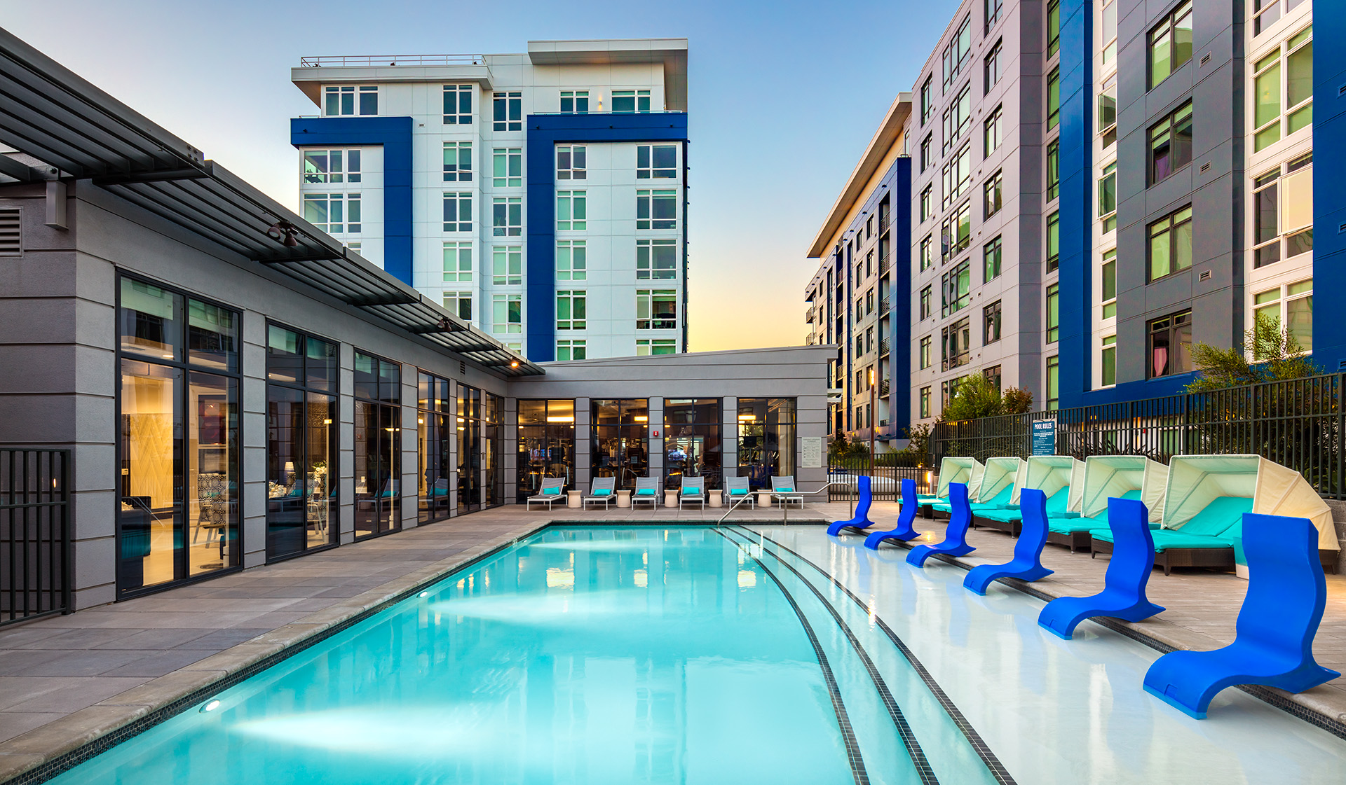 Indigo Apartments - Redwood City, CA - Pool Hangout